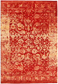 Roma Moderni Collection Matto 203X299 Moderni Käsinsolmittu Ruoste/Punainen ( Intia)