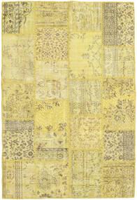 Patchwork Matto 160X235 Moderni Käsinsolmittu Keltainen/Vaaleanvihreä (Villa, Turkki)