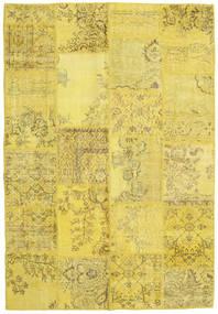 Patchwork Matto 160X233 Moderni Käsinsolmittu Keltainen/Tummanbeige (Villa, Turkki)