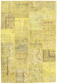 Patchwork Matto 158X234 Moderni Käsinsolmittu Keltainen/Tummanbeige (Villa, Turkki)