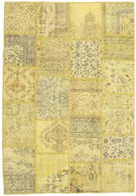 Patchwork Matto 157X230 Moderni Käsinsolmittu Keltainen/Vaaleanvihreä (Villa, Turkki)