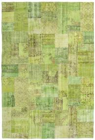 Patchwork Matto 203X301 Moderni Käsinsolmittu Vaaleanvihreä/Oliivinvihreä (Villa, Turkki)