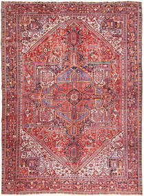Heriz Matto 347X445 Itämainen Käsinsolmittu Vaaleanpunainen/Ruskea Isot (Villa, Persia/Iran)
