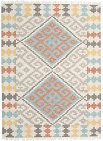 Summer Kelim Matto 210X290 Moderni Käsinkudottu Vaaleanharmaa/Beige (Villa, Intia)