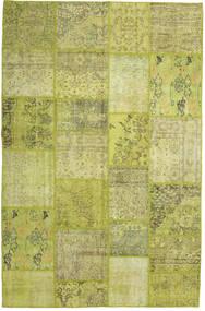 Patchwork Matto 199X304 Moderni Käsinsolmittu Oliivinvihreä/Keltainen (Villa, Turkki)