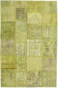 Patchwork Matto 194X302 Moderni Käsinsolmittu Oliivinvihreä/Vaaleanvihreä (Villa, Turkki)
