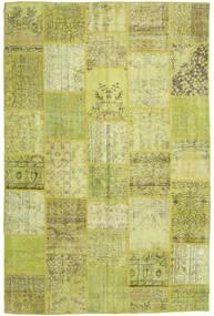 Patchwork Matto 196X298 Moderni Käsinsolmittu Oliivinvihreä/Keltainen (Villa, Turkki)