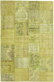 Patchwork Matto 197X303 Moderni Käsinsolmittu Oliivinvihreä/Keltainen/Vaaleanvihreä (Villa, Turkki)