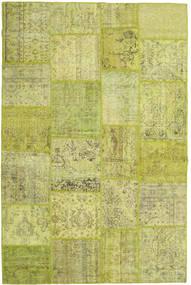 Patchwork Matto 194X300 Moderni Käsinsolmittu Oliivinvihreä/Keltainen/Vaaleanvihreä (Villa, Turkki)