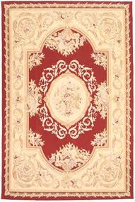 Aubouson Matto 184X281 Itämainen Käsinsolmittu Tummanbeige/Beige/Tummanpunainen (Villa, Kiina)