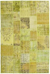Patchwork Matto 199X301 Moderni Käsinsolmittu Keltainen/Oliivinvihreä (Villa, Turkki)
