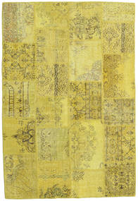 Patchwork Matto 159X235 Moderni Käsinsolmittu Keltainen/Oliivinvihreä (Villa, Turkki)