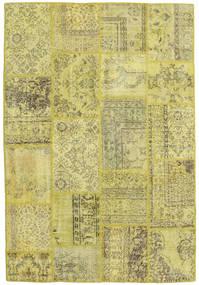 Patchwork Matto 158X233 Moderni Käsinsolmittu Keltainen/Vaaleanvihreä/Oliivinvihreä (Villa, Turkki)