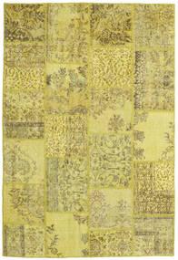 Patchwork Matto 157X232 Moderni Käsinsolmittu Keltainen/Oliivinvihreä (Villa, Turkki)