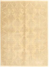 Tabriz Royal Matto 172X238 Itämainen Käsinsolmittu Keltainen/Beige ( Intia)
