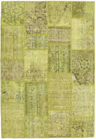 Patchwork Matto 159X233 Moderni Käsinsolmittu Oliivinvihreä/Keltainen (Villa, Turkki)