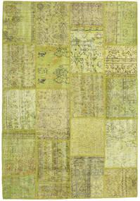 Patchwork Matto 159X231 Moderni Käsinsolmittu Oliivinvihreä/Keltainen (Villa, Turkki)