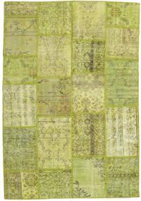 Patchwork Matto 160X234 Moderni Käsinsolmittu Vaaleanvihreä/Oliivinvihreä/Keltainen (Villa, Turkki)