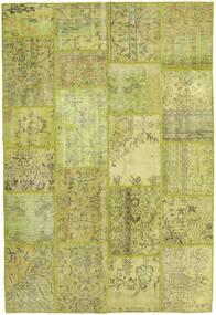 Patchwork Matto 158X234 Moderni Käsinsolmittu Oliivinvihreä/Keltainen/Vaaleanvihreä (Villa, Turkki)