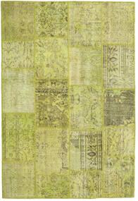 Patchwork Matto 157X233 Moderni Käsinsolmittu Oliivinvihreä/Keltainen/Vaaleanvihreä (Villa, Turkki)