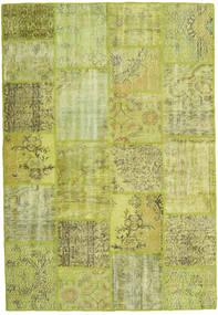Patchwork Matto 158X231 Moderni Käsinsolmittu Vaaleanvihreä/Oliivinvihreä (Villa, Turkki)