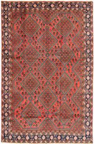 Afshar/Sirjan Matto 192X295 Itämainen Käsinsolmittu Tummanpunainen/Tummanharmaa (Villa, Persia/Iran)
