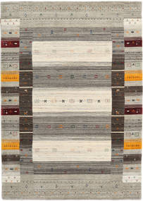 Loribaf Loom Designer Matto 160X230 Moderni Vaaleanharmaa/Tummanharmaa (Villa, Intia)