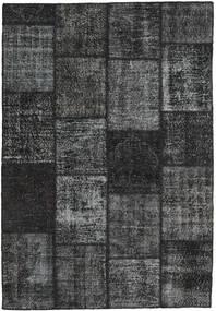Patchwork Matto 159X232 Moderni Käsinsolmittu Tummanharmaa/Tummanvihreä (Villa, Turkki)