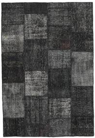 Patchwork Matto 157X232 Moderni Käsinsolmittu Tummanharmaa/Musta (Villa, Turkki)
