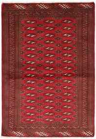 Turkaman Matto 101X147 Itämainen Käsinsolmittu Tummanpunainen/Tummanruskea/Punainen (Villa, Persia/Iran)