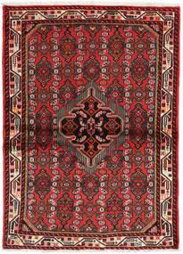 Hamadan Matto 106X144 Itämainen Käsinsolmittu Tummanpunainen/Ruoste (Villa, Persia/Iran)