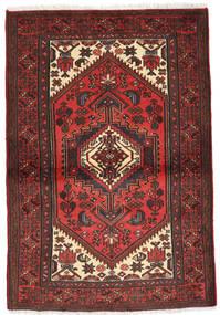 Hosseinabad Matto 97X137 Itämainen Käsinsolmittu Tummanpunainen/Musta (Villa, Persia/Iran)