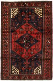 Hamadan Matto 131X200 Itämainen Käsinsolmittu Tummanruskea/Tummanpunainen (Villa, Persia/Iran)