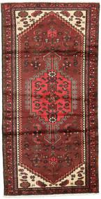 Hamadan Matto 95X187 Itämainen Käsinsolmittu Tummanpunainen/Ruoste (Villa, Persia/Iran)