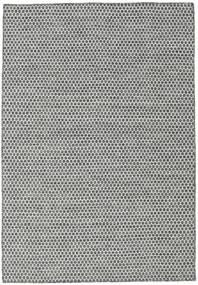 Kelim Honey Comb - Musta/Harmaa Matto 160X230 Moderni Käsinkudottu Vaaleanharmaa/Tummanharmaa (Villa, Intia)
