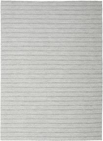 Kelim Long Stitch - Harmaa Matto 290X390 Moderni Käsinkudottu Vaaleanharmaa/Siniturkoosi Isot (Villa, Intia)