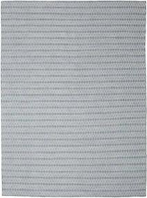 Kelim Long Stitch - Sininen Matto 290X390 Moderni Käsinkudottu Vaaleanharmaa/Vaaleansininen Isot (Villa, Intia)