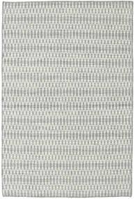 Kelim Long Stitch - Harmaa Matto 120X180 Moderni Käsinkudottu Vaaleanharmaa/Siniturkoosi (Villa, Intia)
