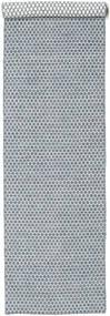 Kelim Honey Comb - Sininen Matto 80X340 Moderni Käsinkudottu Käytävämatto Vaaleanharmaa/Vaaleansininen (Villa, Intia)