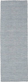 Kelim Honey Comb - Sininen Matto 80X240 Moderni Käsinkudottu Käytävämatto Vaaleansininen/Vaaleanharmaa (Villa, Intia)