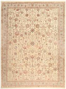 Tabriz Royal Matto 269X363 Itämainen Käsinsolmittu Beige/Vaaleanruskea Isot ( Intia)