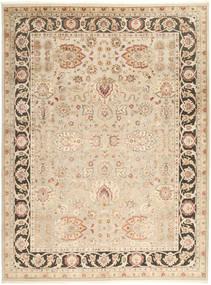 Tabriz Royal Matto 277X368 Itämainen Käsinsolmittu Beige/Tummanbeige Isot ( Intia)