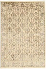 Tabriz Royal Matto 184X271 Itämainen Käsinsolmittu Beige/Tummanbeige ( Intia)