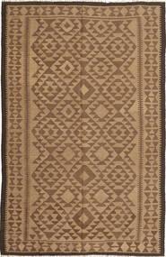 Kelim Matto 160X246 Itämainen Käsinkudottu Ruskea/Vaaleanruskea (Villa, Persia/Iran)