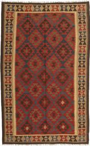 Kelim Maimane Matto 154X249 Itämainen Käsinkudottu Tummanpunainen/Tummanruskea (Villa, Afganistan)