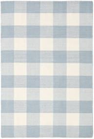 Check Kilim Matto 120X180 Moderni Käsinkudottu Valkoinen/Creme/Vaaleansininen/Beige (Villa, Intia)