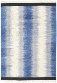 Ikat - Sininen Matto 160X230 Moderni Käsinkudottu Sininen/Beige (Villa, Intia)
