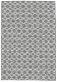 Kelim Long Stitch - Harmaa Matto 140X200 Moderni Käsinkudottu Vaaleanharmaa/Valkoinen/Creme (Villa, Intia)