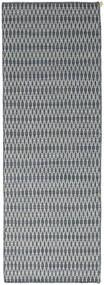 Kelim Long Stitch - Sininen Matto 80X240 Moderni Käsinkudottu Käytävämatto Vaaleanharmaa/Sininen (Villa, Intia)