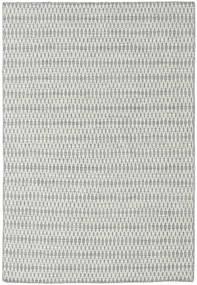 Kelim Long Stitch - Harmaa Matto 160X230 Moderni Käsinkudottu Vaaleanharmaa/Siniturkoosi (Villa, Intia)